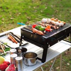 Bếp nướng du lịch, Bếp nướng đứng ngoài trời -  Bếp nướng than hoa I304 Inox cao cấp - Sử dụng an toàn và tiết kiệm than  Mẫu 91 - Bh uy tín 1 đổi 1 bởi LAZADA