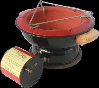 Bếp than thông minh Dế Mèn - size 24 (Đen)