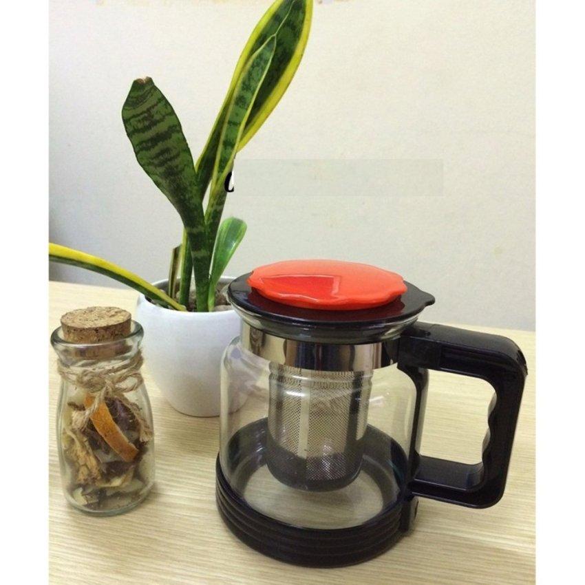 Bình pha trà Glass TeaPot 1.8L tặng nhiệt kế điện tử Features K-018