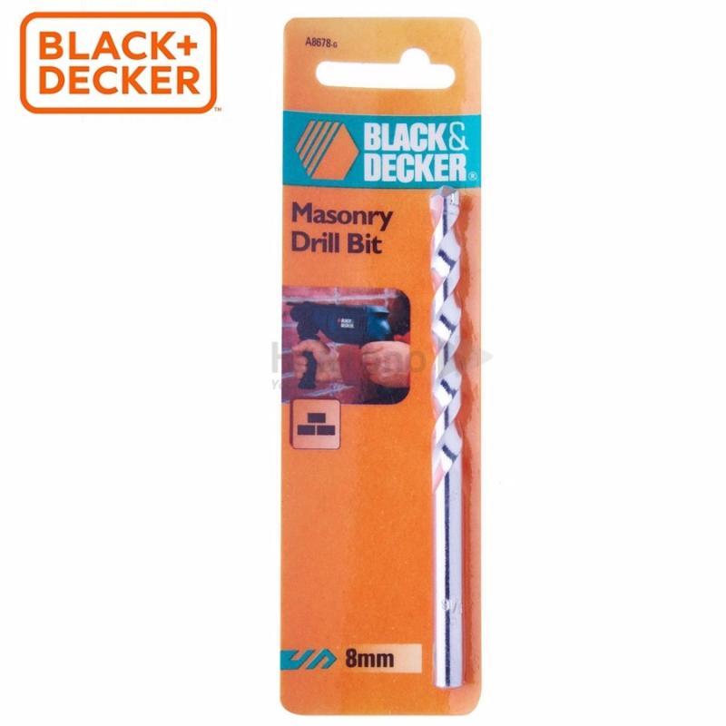 BLACK+DECKER - A8678-5 Bộ 5 Mũi khoan gạch, bê tông 8mm