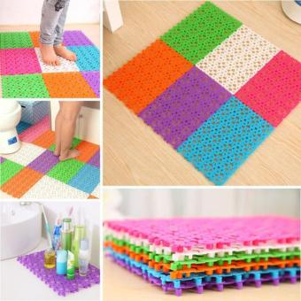 Bộ 06 tấm thảm nhựa lắp ghép trang trí nhà tắm, chống trơn, trượt (Nhiều màu)
