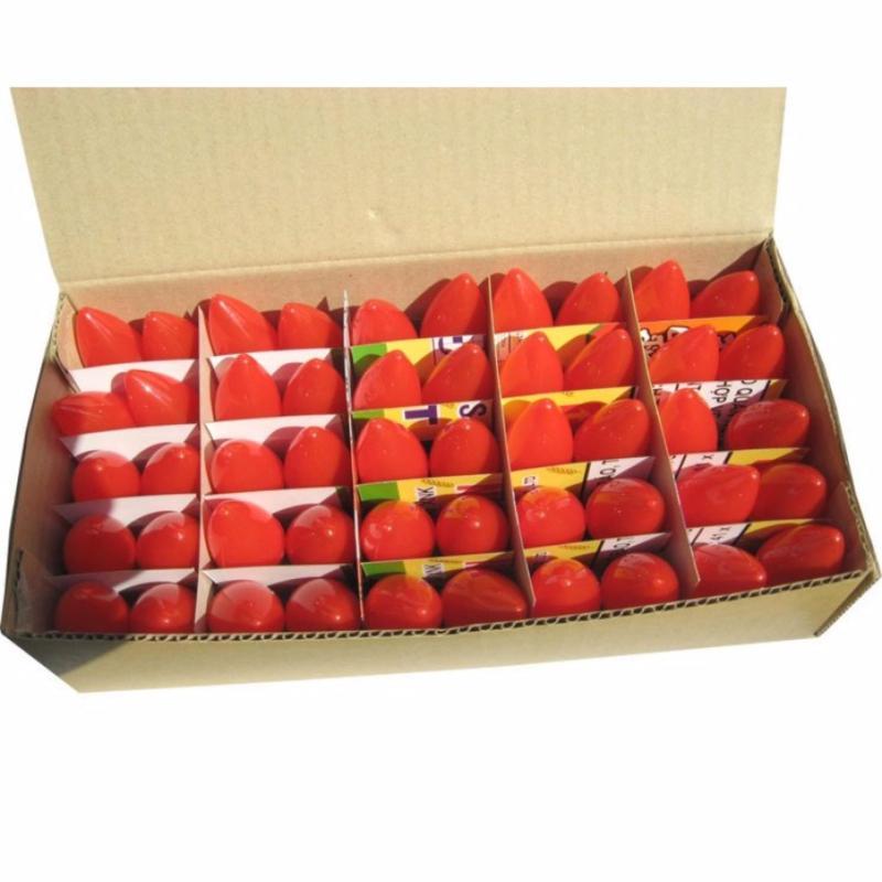 Bảng giá Mua Bộ 10 bóng led trái ớt 0.3W, ánh sáng đỏ + tặng kèm 6 đuôi E12