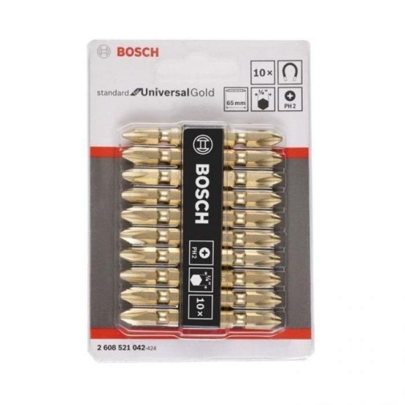 Bộ 10 đầu vặn vít (PH 2 - 65 mm) - Màu vàng
