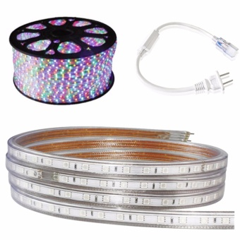 Bộ 10 mét đèn Led dây 5050/220V 4 màu và 1 đầu nối dây nguồn