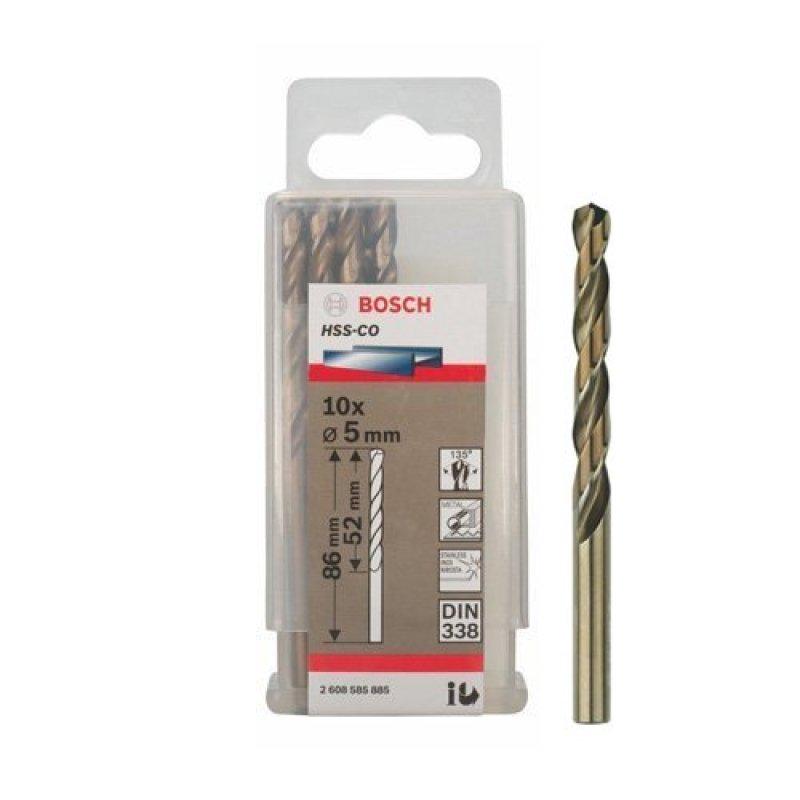 Bộ 10 mũi Sắt và INOX HSS-Co 5 mm