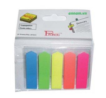 Bộ 12 xấp Giấy Note 5 màu Pronoti (Nhựa)