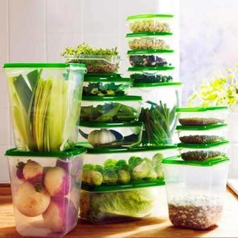 Bộ 17 hộp nhựa đựng thực phẩm an toàn để tủ lạnh HL239 (Xanh Navy)