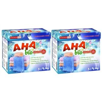Bộ 2 bột giặt cao cấp AHA Bio 1kg