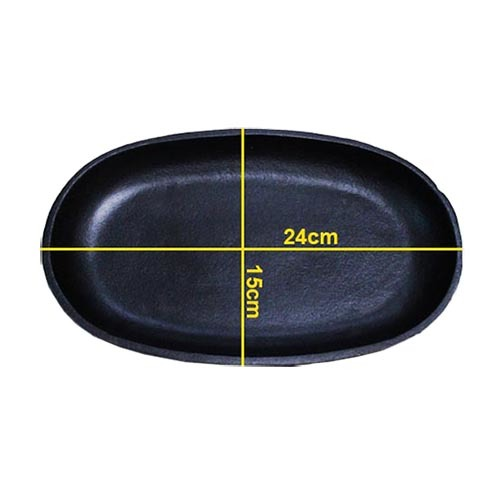 Bộ 2 chảo gang chống dính Oval (Trung)