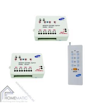 Bộ 2 công tắc điều khiển từ xa 4 thiết bị TPE RC5G4 + Remote 16 nút RM01