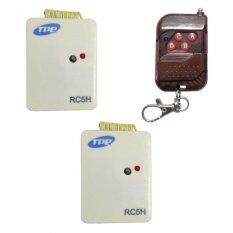 Bộ 2 công tắc điều khiển từ xa cho máng đèn sóng RF TPE RC5H + Remote RF vỏ vân gỗ R1VG315
