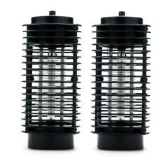 Bộ 2 đèn bắt muỗi và côn trùng hình tháp 3D Babylon (Đen)