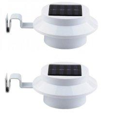 Bộ 2 đèn cảm ứng thông minh năng lượng mặt trời 3 đèn led (trắng)