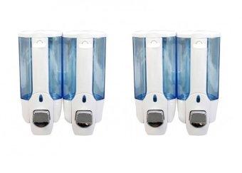 Bộ 2 hộp đựng nước rửa tay xà phòng treo tường đôi CS306