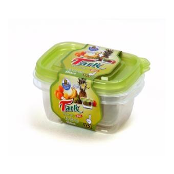 Bộ 2 hộp đựng thực phẩm nhựa PP Hàn Quốc BS-012 550ml