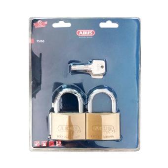 Bộ 2 khóa đồng chung chìa ABUS EC 75/60 CT (Vàng đồng)