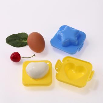 Bộ 2 khuôn ép trứng xinh xắn hình tim và ngôi sao