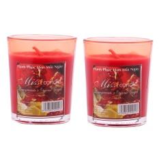 Giá Sốc Bộ 2 ly nến thơm votives hương quả lựu Miss Candle FtraMart FTM-NQM0413 (Đỏ)