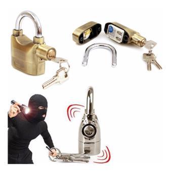 Bộ 2 ổ khóa Kinbar báo trộm cao cấp ( vàng, bạc)