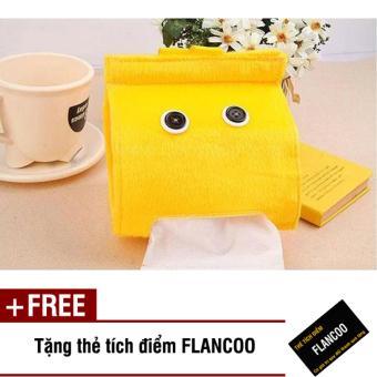 Bộ 2 túi treo giấy vệ sinh Flancoo 3165 (Vàng) + Tặng kèm thẻ tích điểm Flancoo