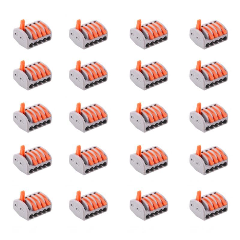 Bộ 20 cút nối dây điện nhanh 5 cổng KV774-5P