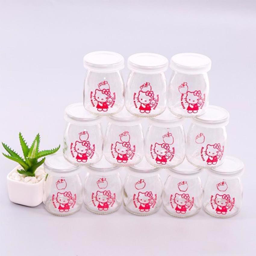Hình ảnh Bộ 24 hũ thủy tinh làm sữa chua