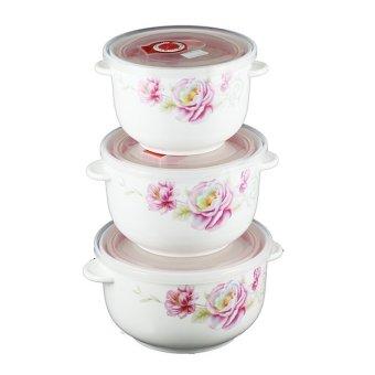 Bộ 3 bát sứ lạnh cao cấp Camellia SL01 (Lớn)