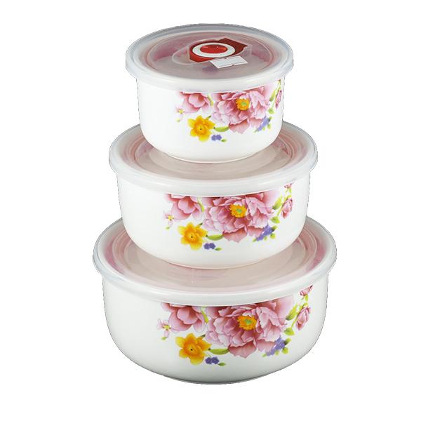 Bộ 3 bát sứ lạnh cao cấp Camellia SL03 (Nhỏ)