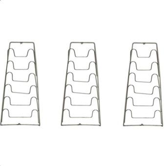 Bộ 3 giá treo vung nồi inox 6 tầng HL0244 (Bạc)