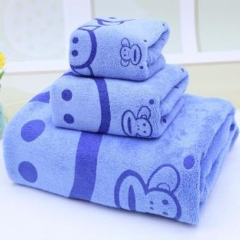 Bộ 3 khăn tắm - khăn mặt - khăn lau (giao màu ngẫu nhiên)