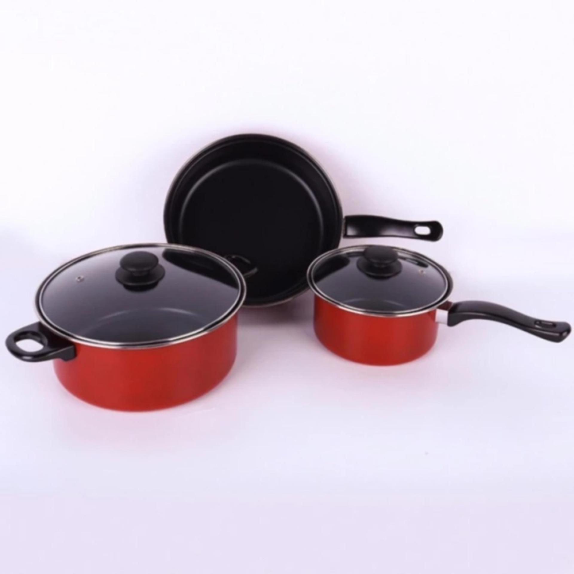 Bộ 3 Nồi và Chảo Chống Dính Cao Cấp Dùng Cho mọi loại bếp