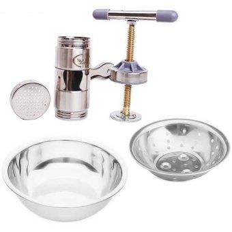 Bộ 3 sản phẩm thau rổ và dụng cụ làm bún mì ESHOP 24H ES0065 (Inox)