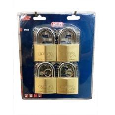 Bộ 4 khóa đồng chìa chủ ABUS EC 75/60 MK4 (Vàng đồng)