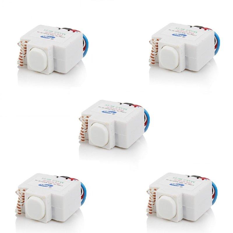 Bộ 5 công tắc điều khiển từ xa sóng RF và hồng ngoại TPE RI01