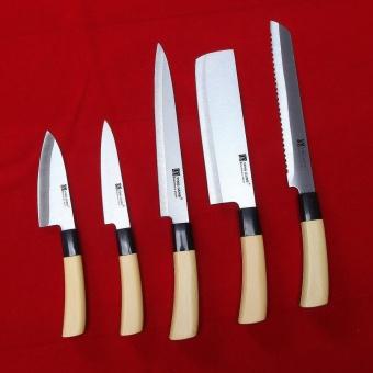 Bộ 5 dao inox cán gỗ YING GUNS