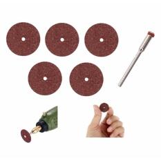 Bộ 5 dĩa cắt 24mm và 1 trục lắp cho khoan điện đa năng cầm tay mini