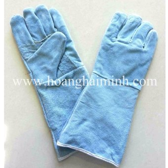 Bộ 5 đôi Găng tay da thợ hàn 2 lớp(Aqua)