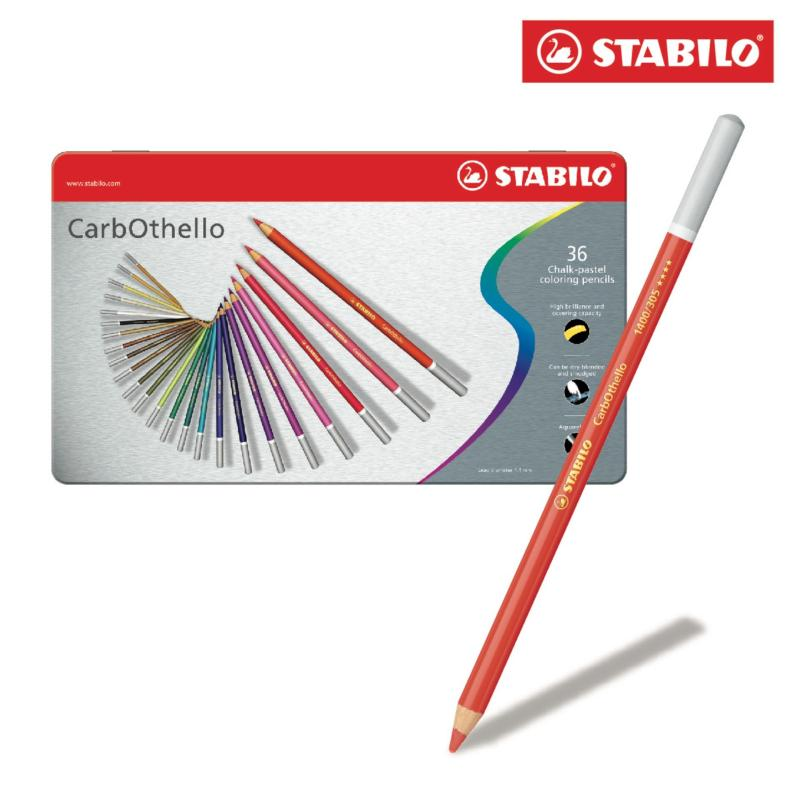 Mua Bộ 5 hộp thiếc bút chì màu STABILO Carbothello (loại 36 cây)