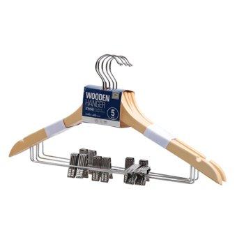 Bộ 5 móc treo quần Ettom bằng gỗ có kẹp Ettom 507-38350 (Gỗ) - ET720HLAA19V58VNAMZ-1930907,224_ET720HLAA19V58VNAMZ-1930907,325000,lazada.vn,Bo-5-moc-treo-quan-Ettom-bang-go-co-kep-Ettom-507-38350-Go-224_ET720HLAA19V58VNAMZ-1930907,Bộ 5 móc treo quần Ettom bằng gỗ có kẹp Ettom 507-38350 (Gỗ)