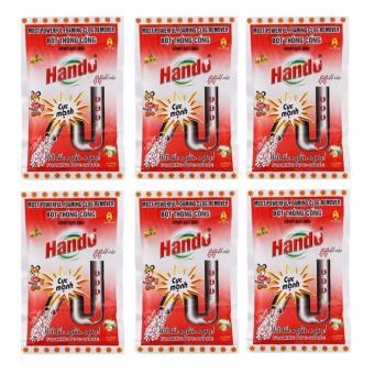 Bộ 6 gói bột thông cống Hando ( Đỏ )