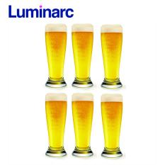 Bộ 6 ly bia thủy tinh cao Luminarc Brasserie 425ml G8252 (Trong suốt)