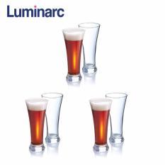 Bộ 6 ly bia thủy tinh cao Luminarc Martigues 320ml G2593 (Trong suốt)