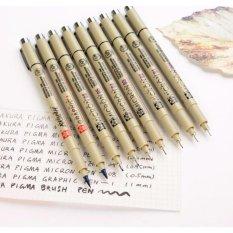 Bộ 8 Bút kim đầy đủ đi line, vẽ kỹ thuật Sakura Pigma Micron Size 005 đến 08 (0.2mm-1 mm