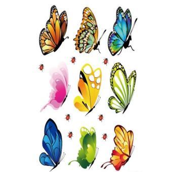Bộ 9 mẫu decal dán tường Hàn Quốc- Cánh bướm muôn màu
