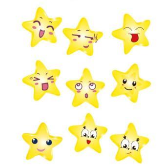 Bộ 9 mẫu decal dán tường Hàn Quốc- Những ngôi sao nhỏ