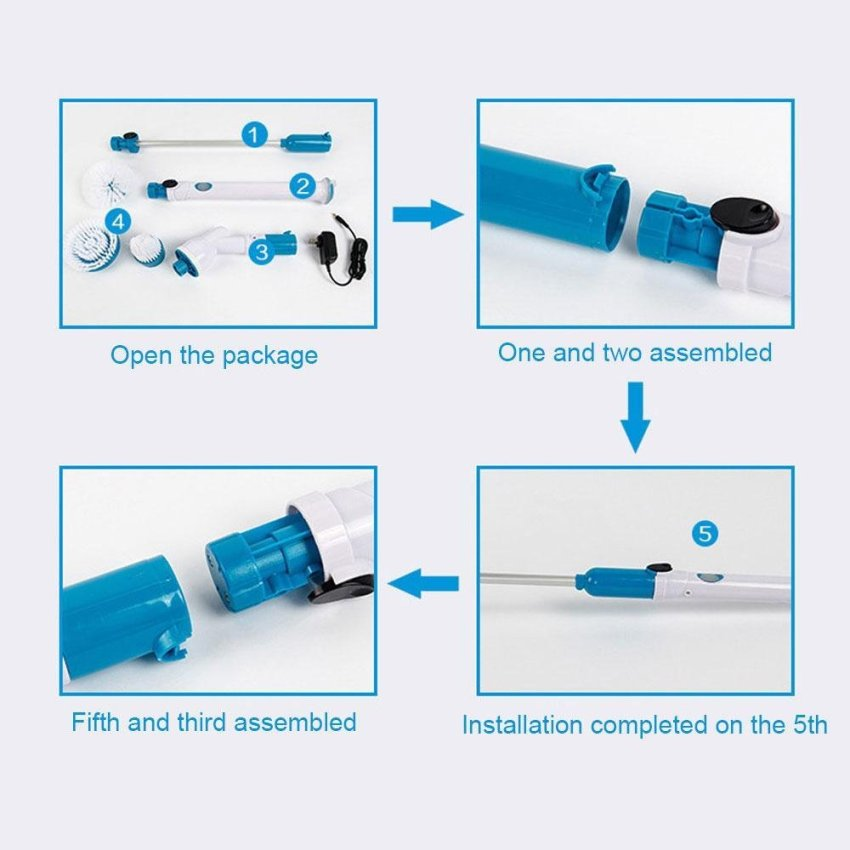 cleaning Source · leegoal Hurricanes Spin Scrubber Multi Function Electric Long Handle Brush .