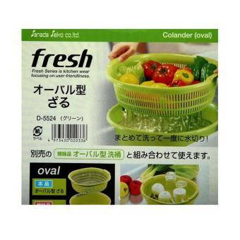 Bộ chậu và rổ nhựa 5.3L màu xanh hàng nhập khẩu Nhật Bản