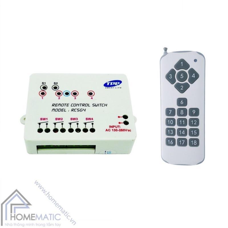 Bộ công tắc điều khiển từ xa 4 thiết bị TPE RC5G4 + Remote 18 nút R3.4