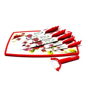 Bộ dao 7 món Tiross ts-1281 (Hoa văn đỏ)