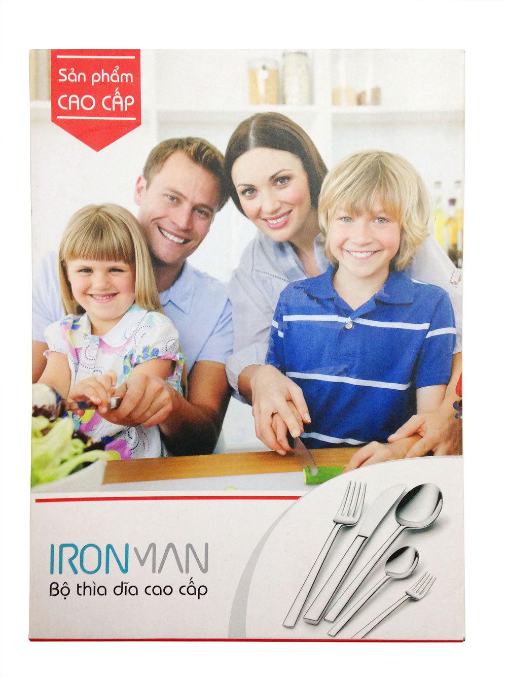 Bộ dao thìa dĩa Inox 5 Món IronMan (Bạc)